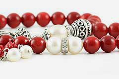 Coral & Pearl Prayer Beads