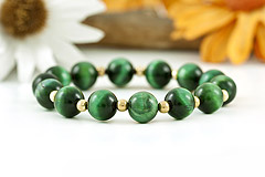 Green Tiger's Eye Bracelet