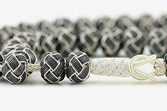 Knitted Silver Prayer Beads