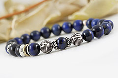 Navy Blue Tiger's Eye Bracelet