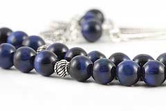 Navy Blue Tiger's Eye Prayer Beads