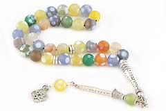Chalcedony Agate Prayer Beads