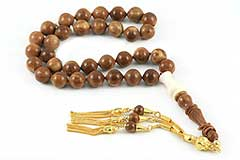 Vintage Style Walnut Prayer Beads