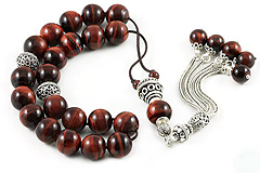 Red Tiger's Eye Worry Beads