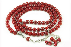 Coral Prayer Beads (99 Beads)
