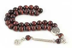 Red Tiger's Eye Prayer Beads
